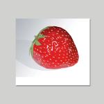 computergezeichnete Erdbeere