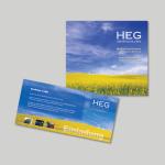 Einladung und Flyer für Kunden